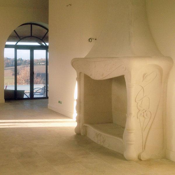 cheminee art nouveau