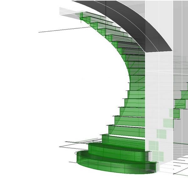escalier Caussens 3D